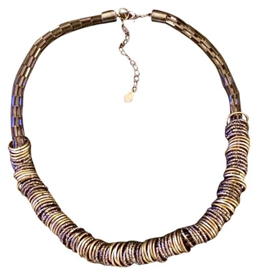 Ali-Khan Mixed Metal Contemporary Statement Necklace