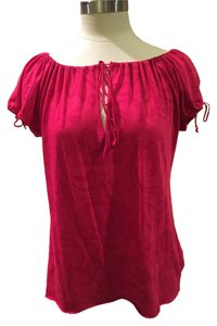 Michael Stars Flirty Sexy Blouse Top Pink