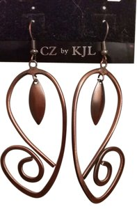 Other long, bronze leaf earrings