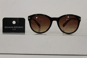 Banana Republic Banana Republic Women Men Fashion Sunglasses Brown Plastic Frame Lens Summer