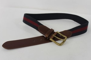 Banana Republic Women Banana Republic Blue Red Fashion Belt Brown Leather Gold Buckle