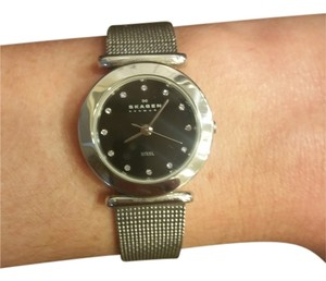 Skagen Denmark Skagen black steel mesh watch