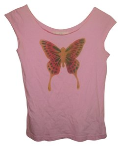 South Paradise Butterfly Tank T Shirt Pink