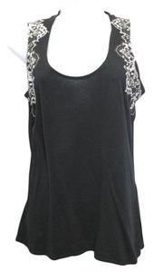 Elie Tahari Black Cotton Top