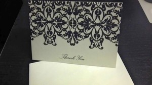 White 50 Wedding Thank You Cards
