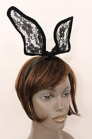 Other Women Head Band Long Black Lace Rabbit Fashion Animal Ears Costume Party Hot