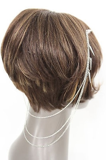 Other Women Fashion One Side Earring Long Silver Chains Spikes Cuff Hair Pin Claw