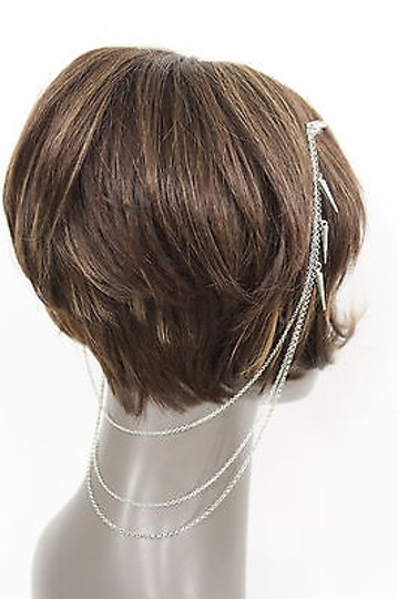 Alwaystyle4you Women One Side Earring Long Silver Chains Spikes Cuff Hair Pin Claw Image 7