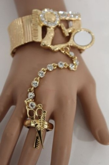 Other Women Hand Chain Gold Hair Blower Stylist Scissors Bracelet