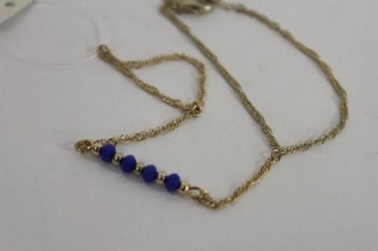 Alwaystyle4you Women Bracelet Gold Metal Hand Chain Slave Ring Blue Beads Charms Image 6