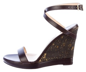 Jimmy Choo metallic brown Wedges