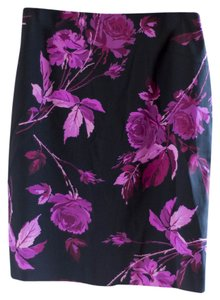 Express Floral Skirt Black, pink