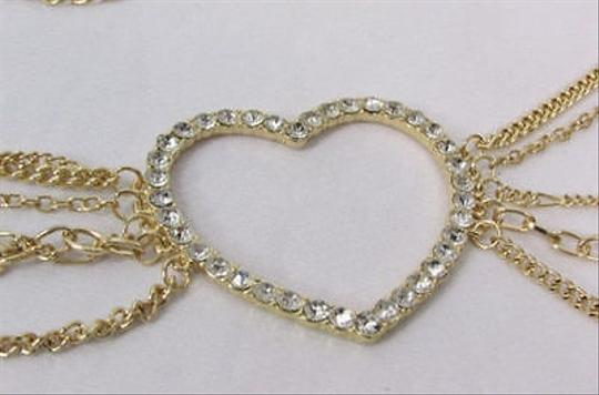 Alwaystyle4you Women Belt Hip Waist Gold Metal Multi Chains Beads Heart Charm Image 10