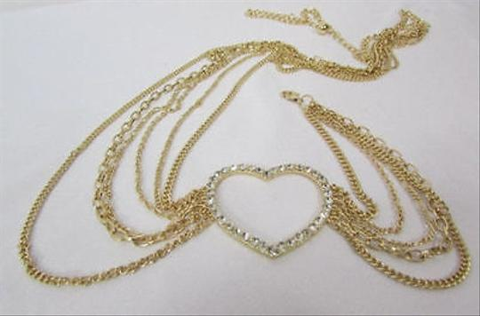 Alwaystyle4you Women Belt Hip Waist Gold Metal Multi Chains Beads Heart Charm Image 5