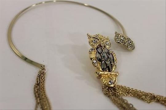 Other Women Choker Fashion Necklace Gold Silver Bird Owl Pendant Broach Pin Chains