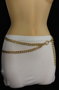 Other Women Fashion Belt Hip High Waist Gold Metal Thick Chains Strands