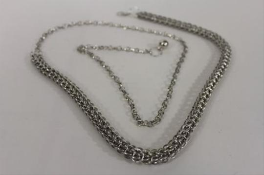 Other Women Belt Hip Waist Silver Metal Double Thick Chains Fashion Bling