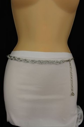 Other Women Belt Hip Waist Silver Metal Chunky Thick Chains Fashion Bling