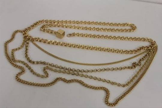 Other Women Fashion Belt Gold Metal Chunky Chains Link Side Hip Strands