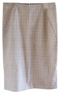 Express Plaid Pencil Skirt beige