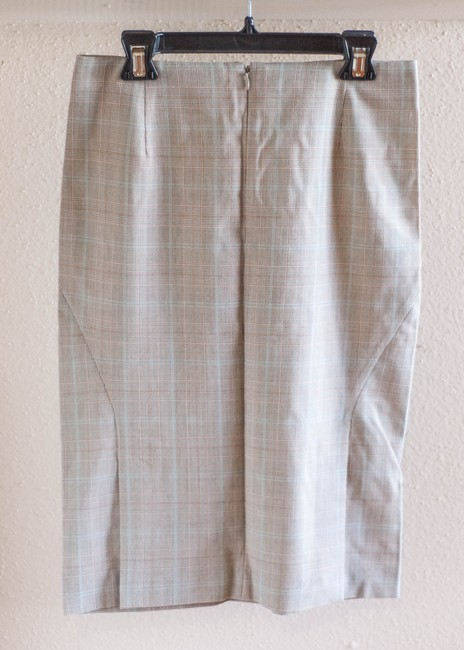 Express Plaid Pencil Skirt beige Image 1