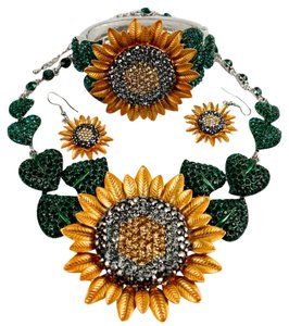 Other Sunflower Necklace Earrings Bracelet