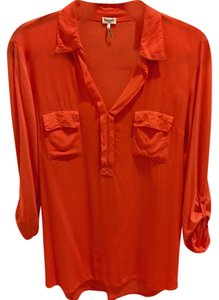 Splendid Shirt Blouse T Shirt Orange