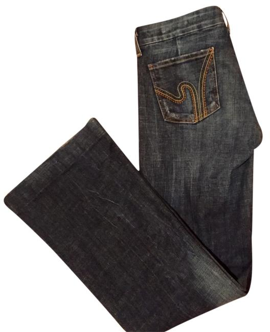 Citizens of Humanity Blue Dark Rinse Boot Cut Jeans Size 28 (4, S) Citizens of Humanity Blue Dark Rinse Boot Cut Jeans Size 28 (4, S) Image 1