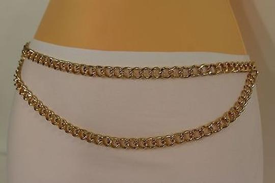 Other Women Fashion Belt Gold Metal Chunky Chain Red Lipstick Charm