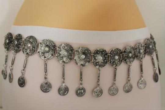 Other Women Belt Hip High Coins Silver Metal Chains Moroccan Fashion