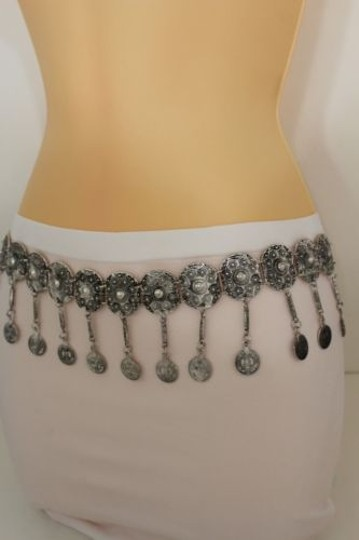 Alwaystyle4you Women Belt Hip High Coins Silver Metal Chains Moroccan Fashion Image 3
