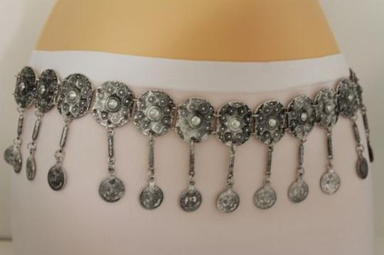 Alwaystyle4you Women Belt Hip High Coins Silver Metal Chains Moroccan Fashion Image 5