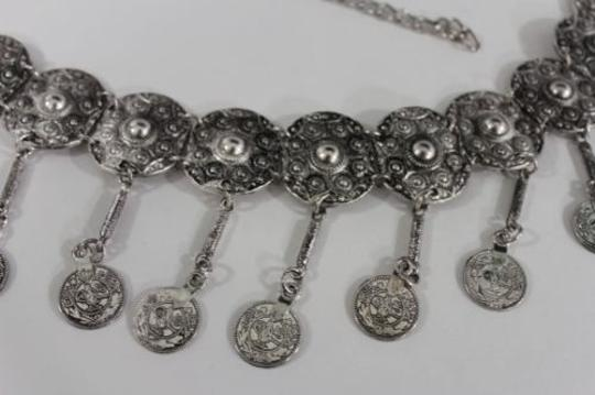 Alwaystyle4you Women Belt Hip High Coins Silver Metal Chains Moroccan Fashion Image 7