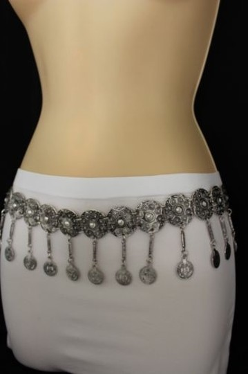 Alwaystyle4you Women Belt Hip High Coins Silver Metal Chains Moroccan Fashion Image 9