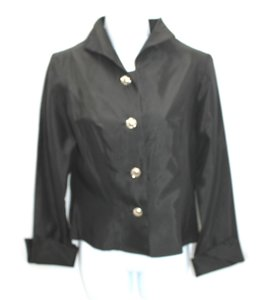 TRES CHIC Black Taffeta Top