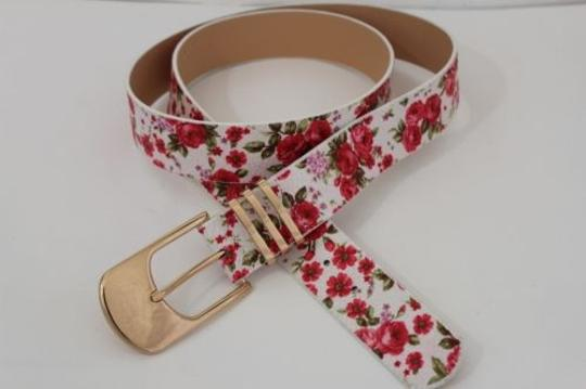 Preload https://img-static.tradesy.com/item/4313191/white-women-fashion-red-flowers-gold-buckle-plus-belt-0-0-540-540.jpg
