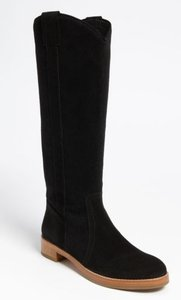 Via Spiga Glillin Suede Riding Black Boots