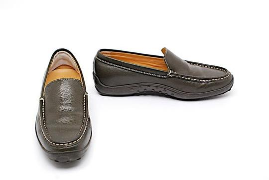 Tod's Driving Moccassin Olive Flats
