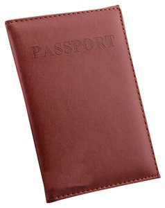 Other Brown Passport Holder Protector Cover Wallet PU Leather Cover Free Shipping