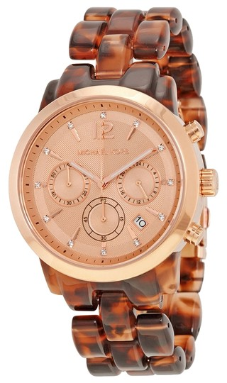 Michael Kors Michael Kors Tortoise Shell Rose Gold Dial Ladies Watch