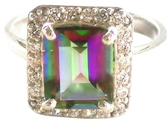Other PRICED REDUCED Gorgeous Mystic Topaz and White Zircon 925 Sterling Silver Ring 7