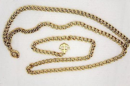 Other Women Fashion Belt Hip High Waist Gold Metal Thick Chains Anchor Charm