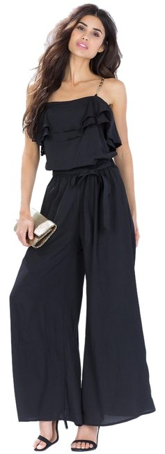 Preload https://item2.tradesy.com/images/black-ruffle-chain-long-romperjumpsuit-size-6-s-4321861-0-0.jpg?width=400&height=650