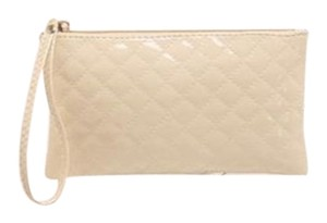 Other Beige zippered cosmetic bag wallet wristlet Free shipping