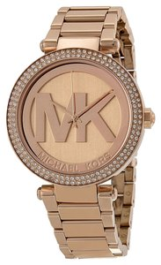 Michael Kors Michael Kors Rose Gold Crystal Bezel Logo Dial Ladies Watch