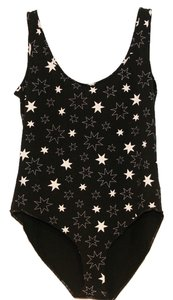 Tee Shop The Star Body Suite Bodysuite Top Black and White