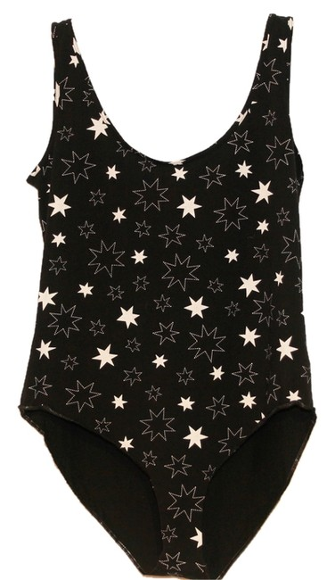Item - Black and White XL Final Reduction*** Star Body Suit Tank Top/Cami Size 14 (L)