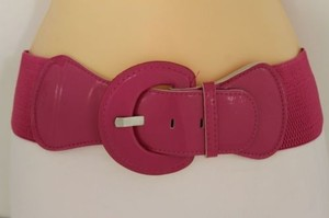 Other Women Fashion Belt Hip High Waist Stretch Pink Big Buckle Plus
