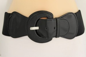 Other Women Fashion Belt Hip High Waist Stretch Wide Black Buckle Plus