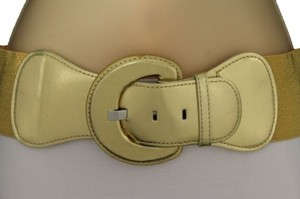 Other Women Fashion Belt Hip High Waist Stretch Gold Big Buckle Plus